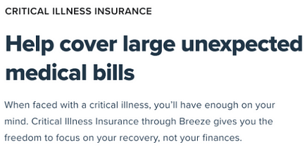 breeze critical health insurance