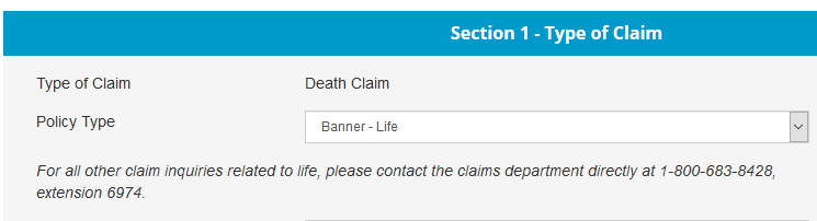 banner life claims