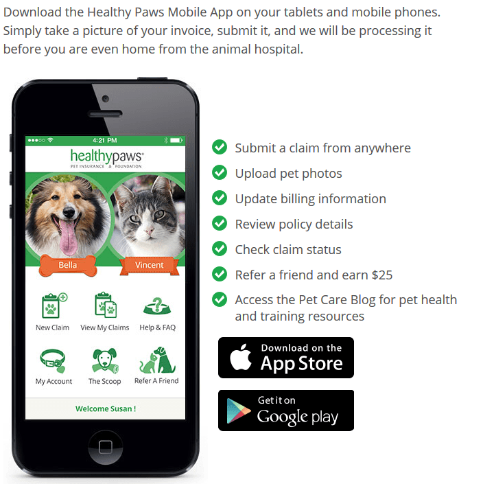 healthy paws mobile app