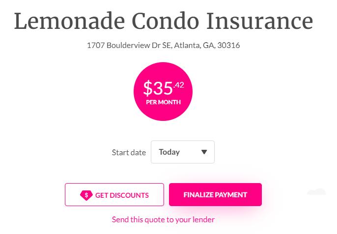 lemonade condo insurance